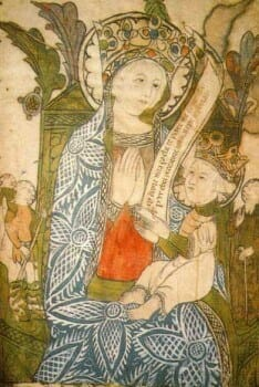 White Madonna Painting, from paolonoceti.it