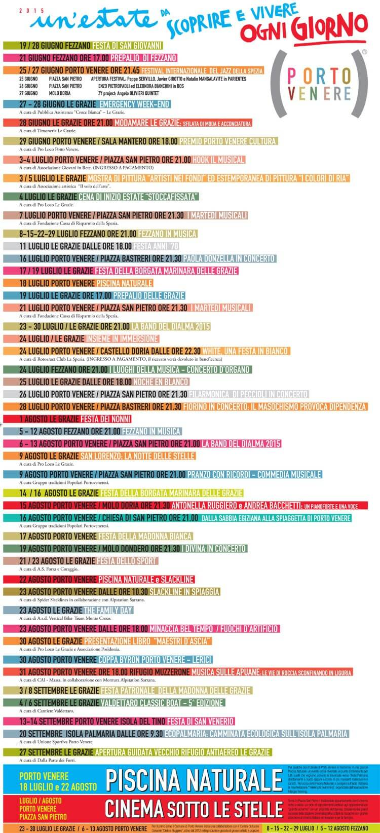 Summer in Portovenere: calendar of events