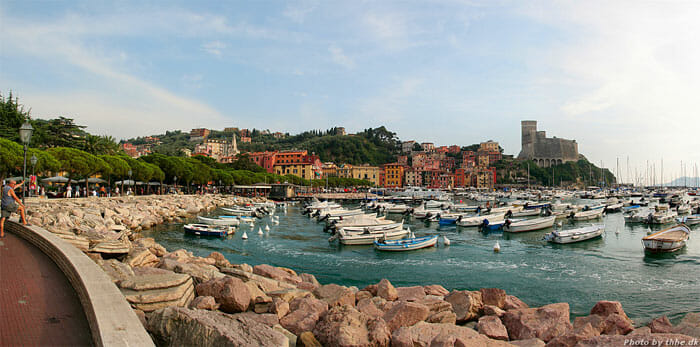 A view of Lerici, Bay of Poets, Liguria