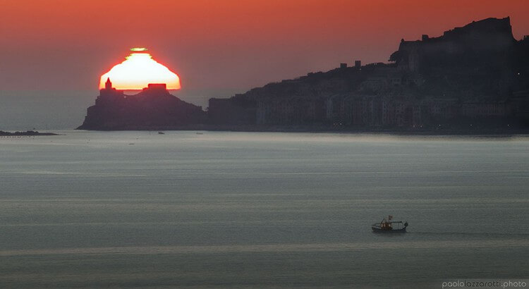 Sunset in Portovenere, Liguria