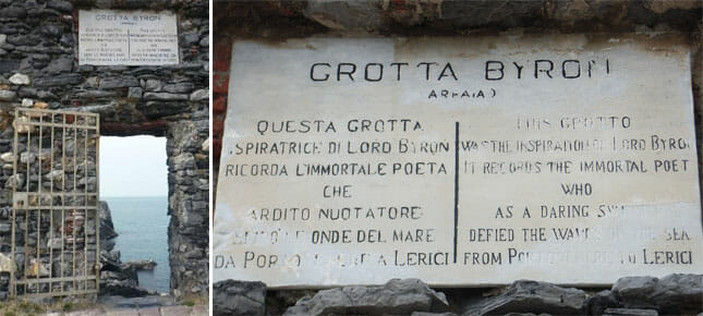 Lord Byron's Grotto in Portovenere, Liguria Bay of Poets