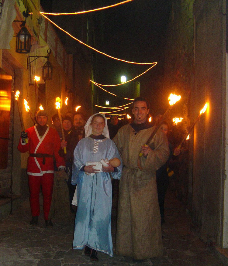 "Christmas ""Living Nativity"" in Portovenere, Liguria"