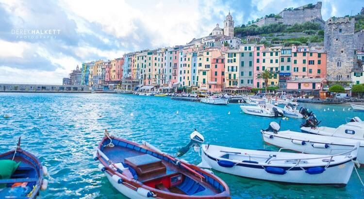 Portovenere Harbor, Liguria - by Derek Halkett Photography