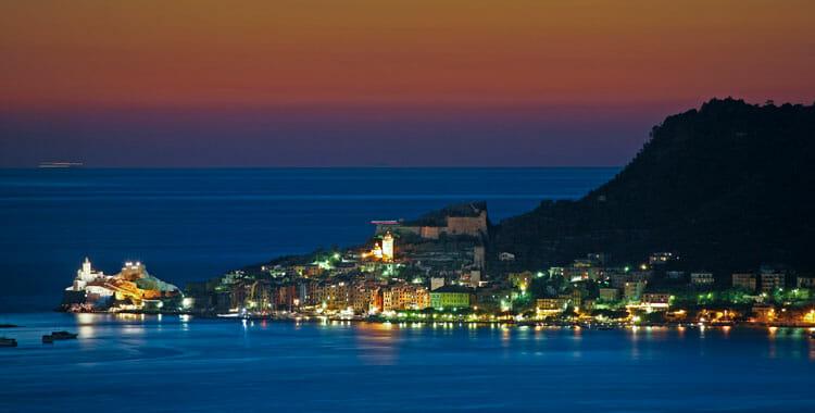 Portovenere by night, Liguria