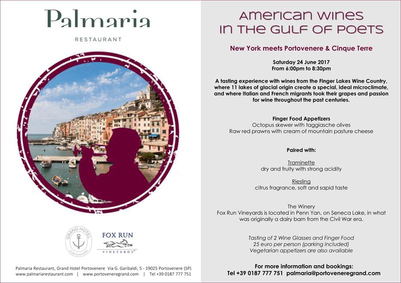 American Wines in Cinque Terre, Portovenere