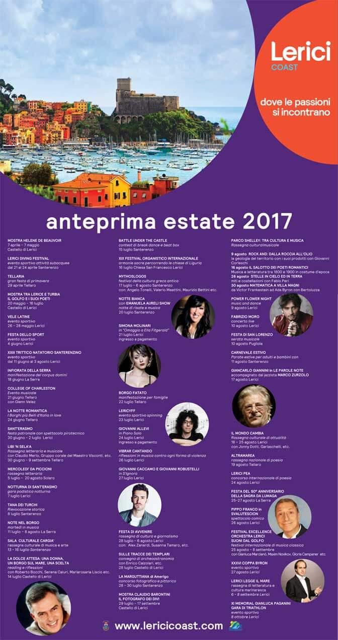 Summer Events 2017 Porto Venere Cinque Terre